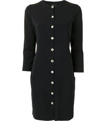 agnès b. button-front jersey dress - black