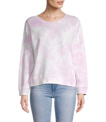 525 america women's tie-dye cotton sweatshirt - lilac - size l