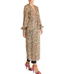 spotted print cher robe dress