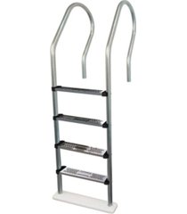 blue wave premium stainless steel reverse bend in pool ladder for above ground pools