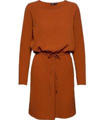 onlnova lux l/s draw string dress sol. 5 knälång klänning orange only