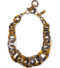 "zenzii acetate link statement necklace, 21-1/2"" + 1"" extender"