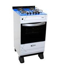 fogão a gás clarice veritá 4 bocas automático com mesa azul bivolt