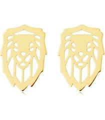 kolczyki lions- srebro,złoto,różowe złoto