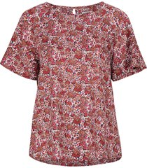 blus ellis red flower top