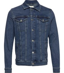 slhjeppe st denim jacket w jeansjack denimjack blauw selected homme