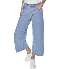 jeans culotte azul claro mujer corona