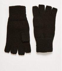 mens black fingerless knitted gloves
