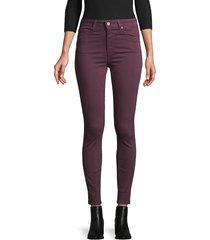 paige women's hoxton ankle pants - pinot noir - size 26 (2-4)