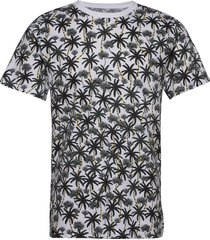 t-shirt stockholm beach palms t-shirts short-sleeved vit dedicated