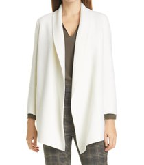 women's theory clairene luxe shawl collar coat, size x-large - ivory
