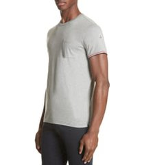 men's moncler tipped sleeve t-shirt, size small - grey