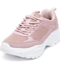zapatilla high bamers rosa bamers