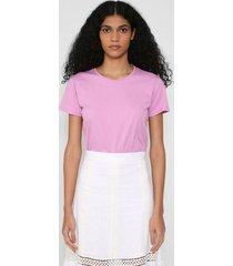 t-shirt básica algodão ii - rosa - pp