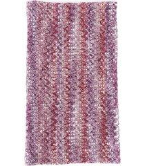 missoni chevron knit infinity scarf purple sz: