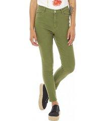 jeans básico crop mujer militar corona