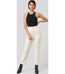 na-kd classic tailored cropped suit pants - white