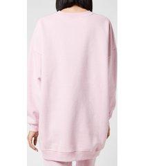 ganni women's software isoli oversized sweatshirt - sweet lilac - s/m