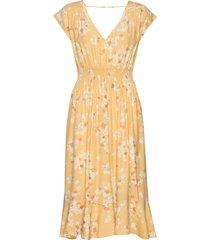 adore s/s dress knälång klänning gul odd molly