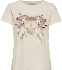 t-shirt t-shirts & tops short-sleeved creme sofie schnoor