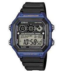 reloj casio ae-1300wh-2a azul con begro