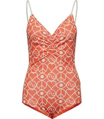 solborg bathingsuit baddräkt badkläder orange rodebjer
