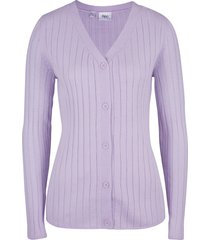 cardigan a coste (viola) - bpc bonprix collection