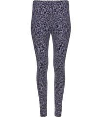 leggings neostrechy estampado color azul, talla s