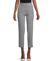 crop gingham trousers