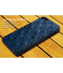 blue skin wallet lv art cover iphone 7 7+ 6 6s 6+ 6s+ 5 5s 5c 4 4s ipod 5 case