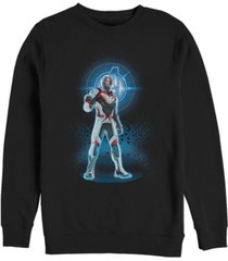 marvel men's avengers endgame ant-man armor suit, crewneck fleece