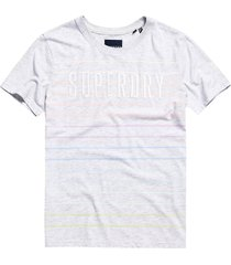 t-shirt rainbow streep grijs
