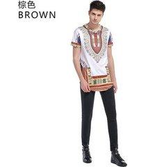 summer hip hop t shirt extended street camisetas para hombres-marrón