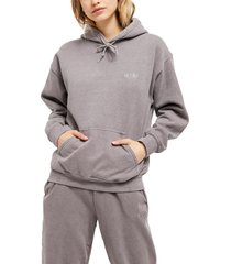 women's bdg urban outfitters longline hoodie, size small - brown