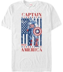 marvel men's comic collection captain america patriotic stance short sleeve t-shirt