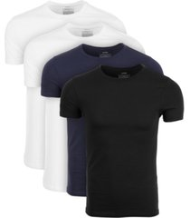 alfani men's 4-pk. crewneck undershirts, created for macy's