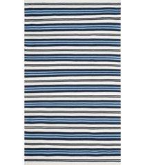 lauren ralph lauren leopold stripe lrl2462b white and french blue 5' x 8' area rug