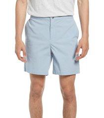 men's treasure & bond elastic waist shorts, size small - blue