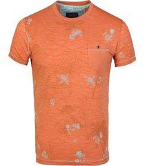 t-shirt round neck papaya