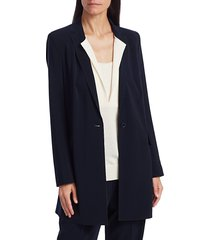 akris punto women's oversized long-line blazer coat - night sky - size 10