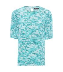 camiseta feminina céu - azul