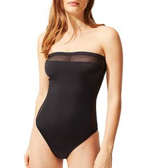 the madeline mesh one-piece swimsuit