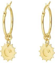 orecchini a cerchio beverly oro giallo per donna