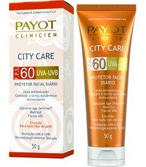 protetor solar facial clinicien city care fps 60 - payot único