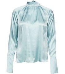 felina blouse blouse lange mouwen blauw birgitte herskind
