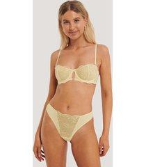 na-kd lingerie delicate v-string - yellow