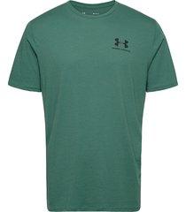 ua sportstyle lc ss t-shirts short-sleeved grön under armour