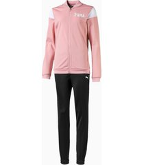poly girls' track suit, roze, maat 110 | puma