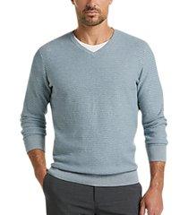 joseph abboud staycool light blue modern fit v-neck sweater
