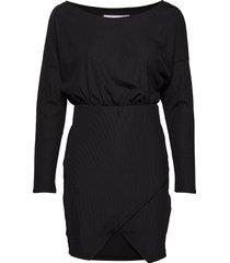 rib mini dress kort klänning svart ivyrevel